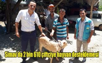 Simav'da 2 bin 610 çiftçiye hayvan desteklemesi