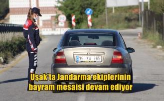 Uşak'ta Jandarma ekiplerinin bayram mesaisi devam ediyor