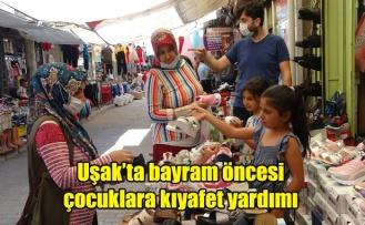 Uşak'ta bayram öncesi çocuklara kıyafet yardımı