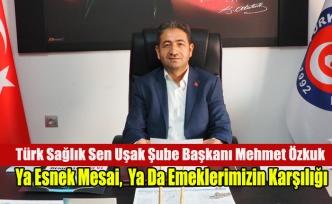 Türk Sağlık Sen: Ya Esnek Mesai,  Ya Da Emeklerimizin Karşılığı