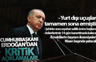 Cumhurbaşkanı Erdoğan'dan koronavirüs tedbirlerine ilişkin açıklama!