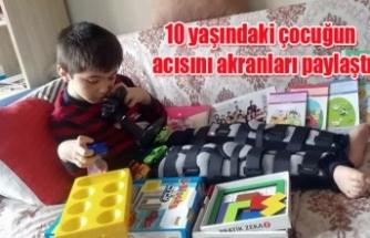Yürüyemeyen 10 yaşındaki Buğrahan'a Sivas'tan hediyeler geldi