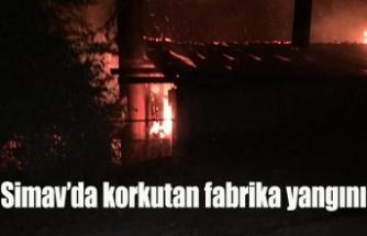 Simav'da korkutan fabrika yangını