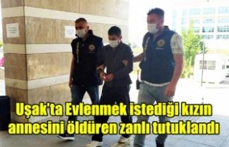 Uşak'ta Evlenmek istediği kızın annesini öldüren zanlı tutuklandı