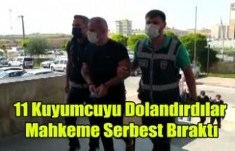 Uşak'ta ve Ege'de 11 kuyumcuyu dolandıran 2 şüpheli serbest bırakıldı