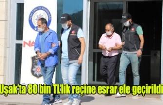 Uşak'ta 80 bin TL'lik reçine esrar ele geçirildi