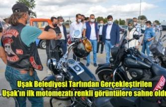 Uşak Belediyesi tarafından gerçekleştirilen Uşak'ın ilk motomezatı renkli görüntülere sahne oldu