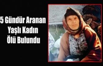 Uşak'ta 5 Gündür Aranan Yaşlı Kadın Ölü Bulundu