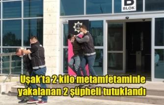 Uşak'ta 2 kilo metamfetaminle yakalanan 2 şüpheli tutuklandı