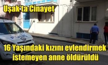 Uşak'ta Cinayet, Genç bir kadın öldürüldü