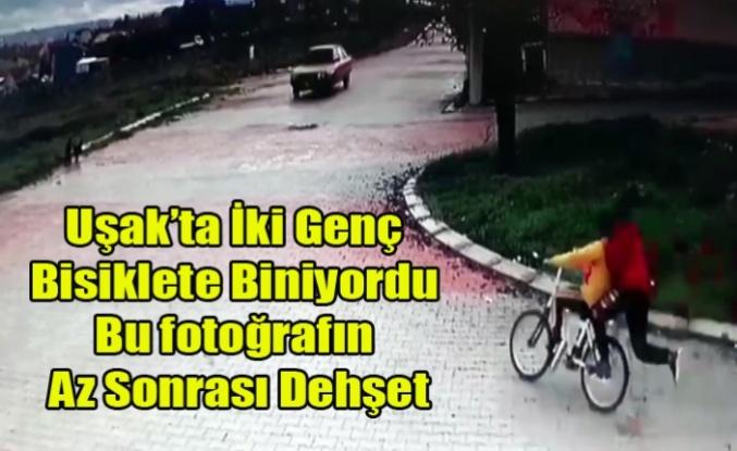 Bisiklete Binen İki Genç Araç Altında Kaldı O Anlar kamerada