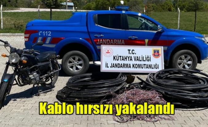 Simav'da Kablo hırsızı yakalandı