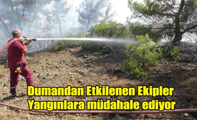 Banaz' da ki orman yangını yaklaşık 5 saattir kontrol altına alınmaya çalışılıyor