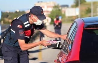 Uşak'ta Jandarma ekiplerinin bayram mesaisi